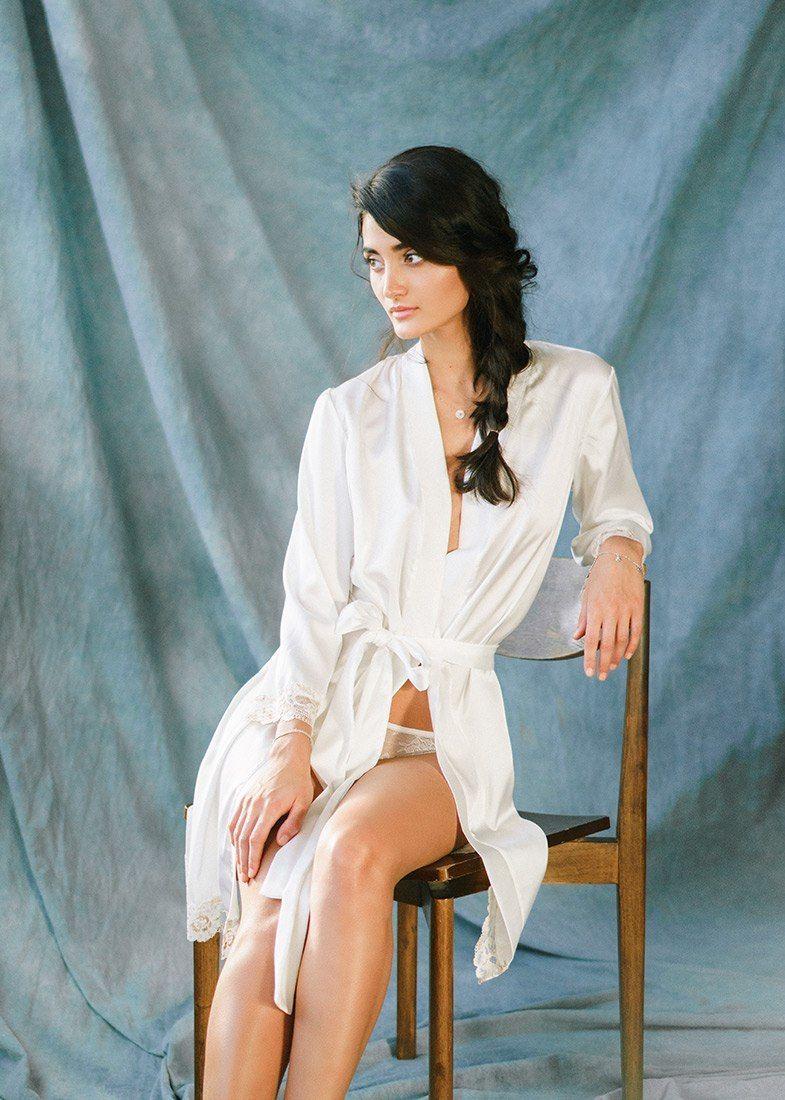 Свадебный халатик Моника - фото 16541082 Будуарный салон Boudoir-Wedding
