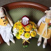 Букет невесты с ранункулюсами из полимерной глины