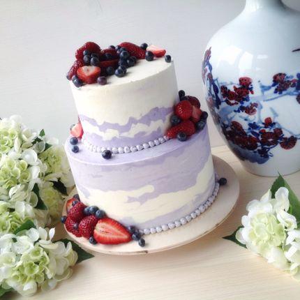 Кремовый торт с ягодами/фруктами/сладостями, цена за 1 кг