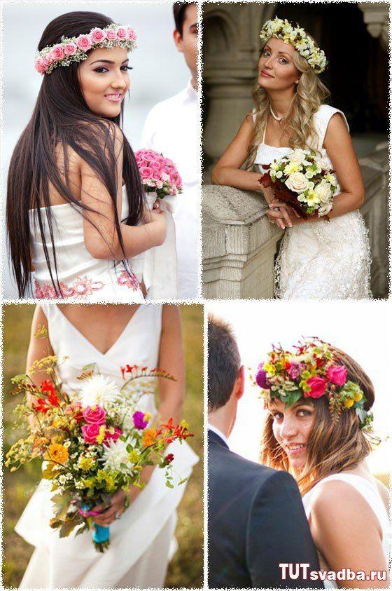 Свадебные веночки на голову своими руками 36