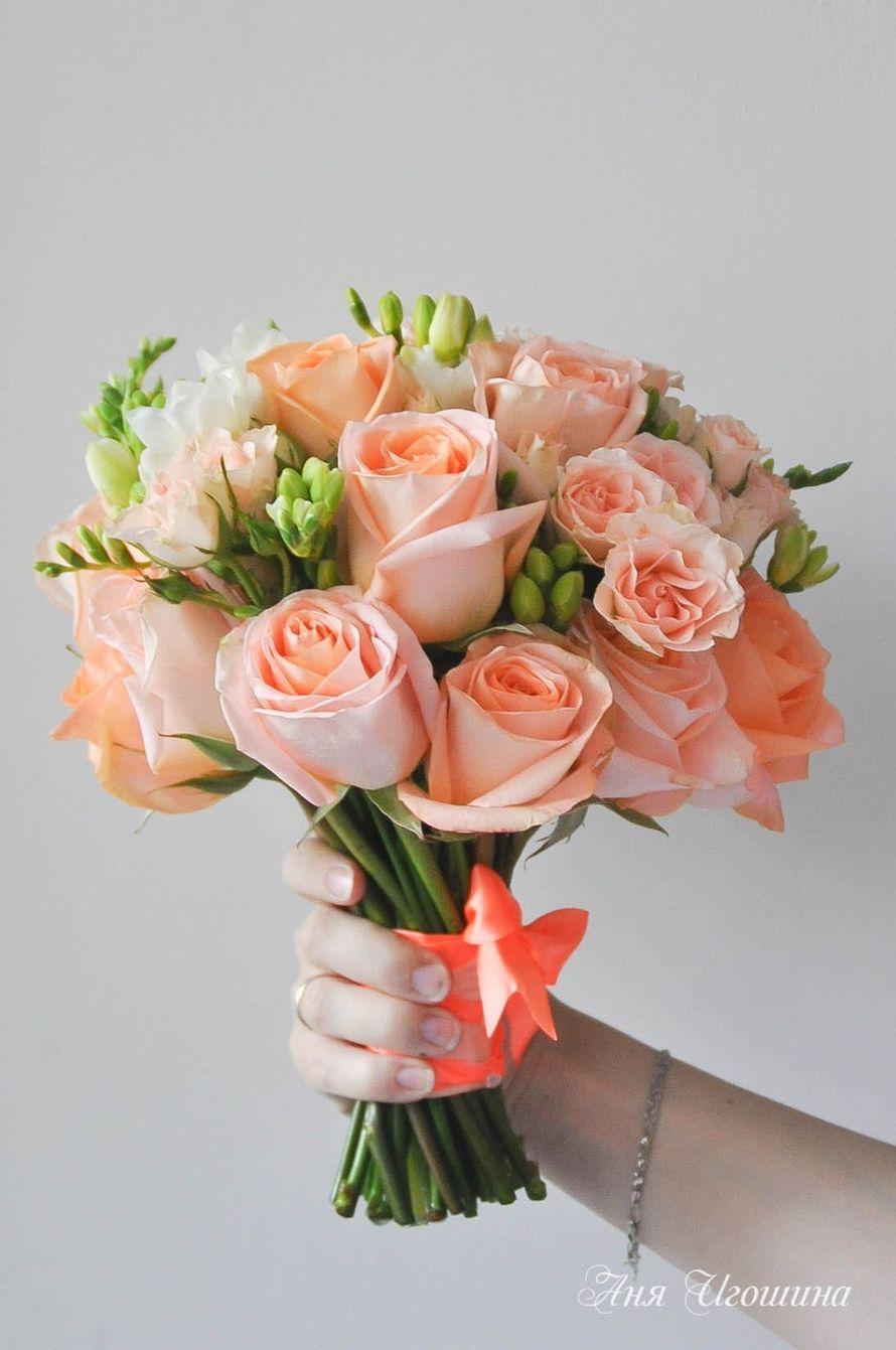 Какие цветы персикового букет, маленькие