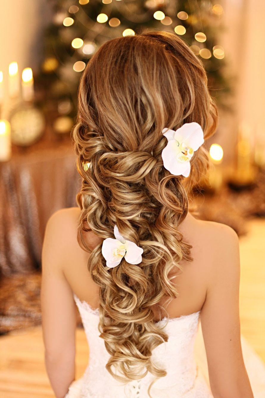 Модные прически на свадьбу для длинных волос фото