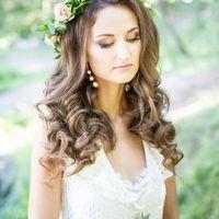 Нежный свадебный макияж под образ в стиле рустик