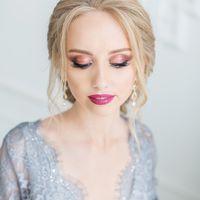 Дымчатый свадебный макияж