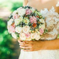 пионовидные розы, бруния, розовый,