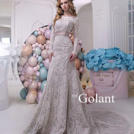 Свадебное силуэтное платье