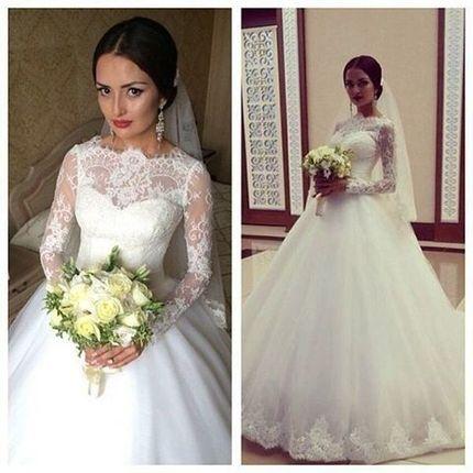 Свадебные кружевные платья и цены