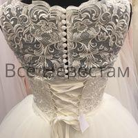 Пышное свадебное платье с кружевными плечиками