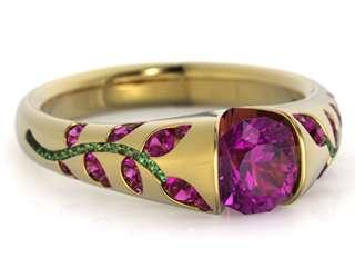 розовое золото, розовые и синие сапфиры, бриллианты - фото 6456200 Национальный ювелирный дом
