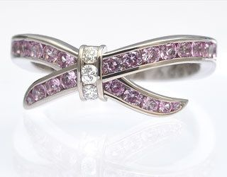 белое золото, бриллианты, розовые сапфиры - фото 6456202 Национальный ювелирный дом