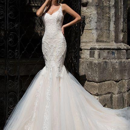 Свадебное платье рыбка от Оксаны Мухи