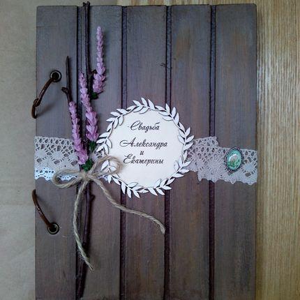 Фотоальбом с пожеланиями, стилизация под дерево