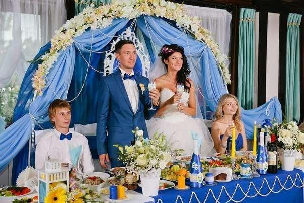 Фото 6586896 в коллекции Сине-жёлтая свадьба - Студия декора и флористики  - Malina group