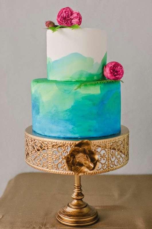 Свадебный торт - Акварель - фото 7707138 Maltina Maria - свадебная и праздничная полиграфия