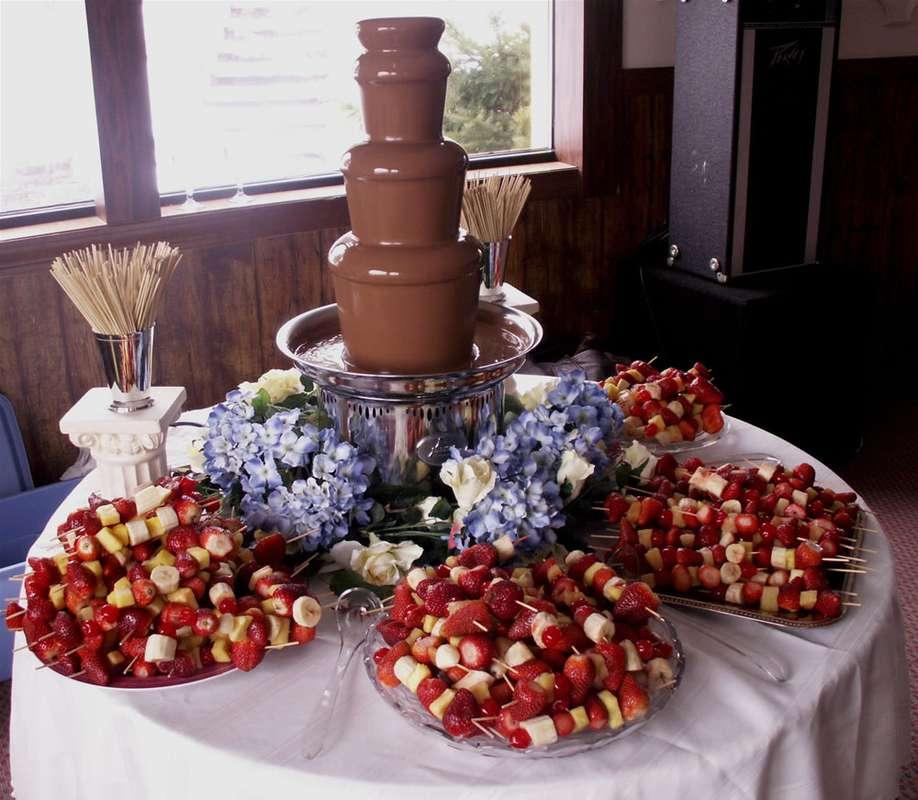 шоколадные фонтаны как оформить фото