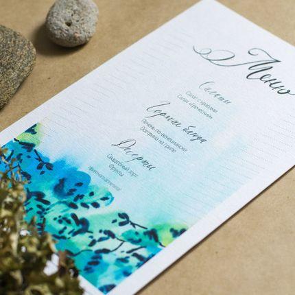 меню для свадебного стола