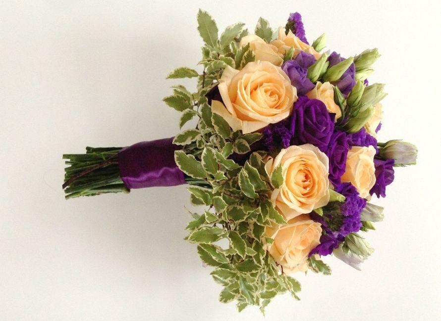 Букет невесты для фиолетовой свадьбы. - фото 7820016 Flower pie - флористика и декор