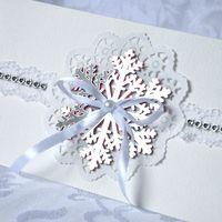 свадебное приглашение со снежинкой