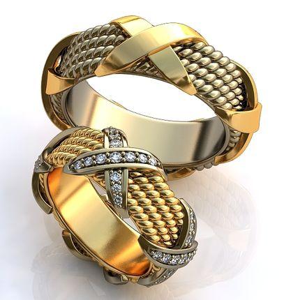 Обручальные кольца (стиль Тиффани)