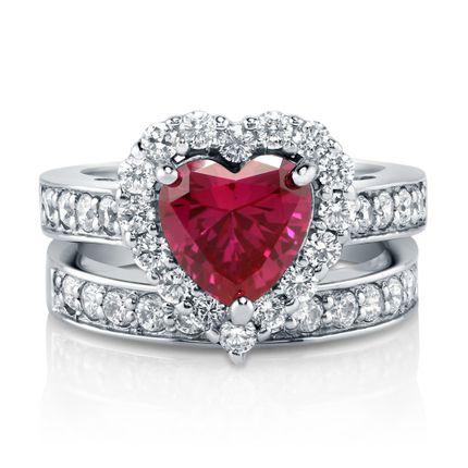 Помолвочное кольцо сердце