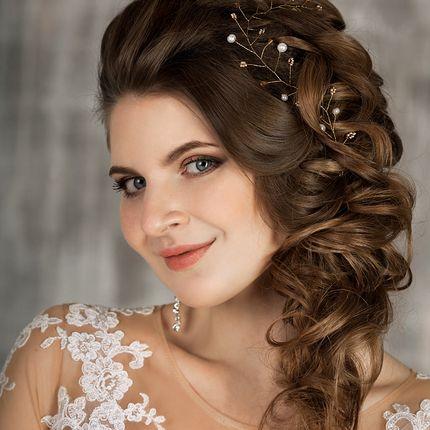 """Свадебная причёска """"Греческая коса"""""""
