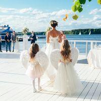 шебби шик шатёр свадьба в шатре лето ангелочки невеста выездная церемония выездная регистрация