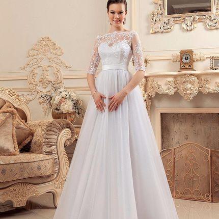 Платье свадебное с летящей юбкой