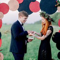 свадьба, невеста, жених, выездная регистрация, красный, черный, золотой, флористика, декор