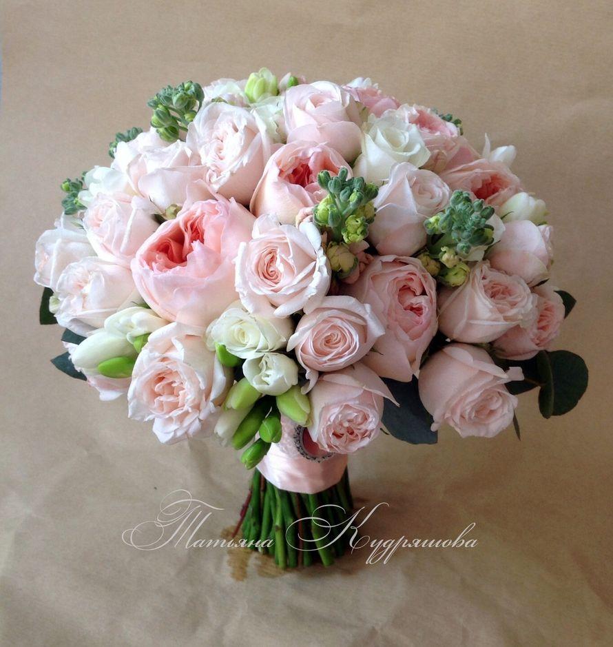 Букет невесты с пионовидной розой - фото 2403890 Цветочная мастерская Татьяны Кудряшовой