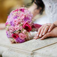 Букет невесты цвета фуксии