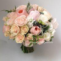 Персиковый букет невесты