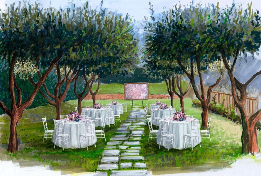 Свадьба на Амальфитанском побережье обрисовка декора - фото 17450648 Свадебное агентство Toutenrouge