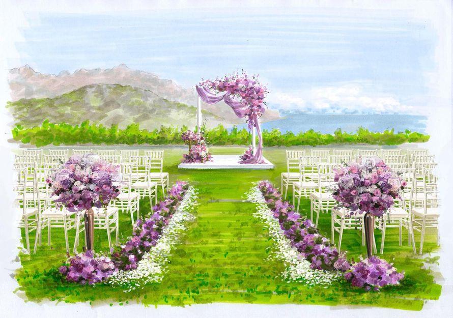 Свадьба на Амальфитанском побережье обрисовка декора - фото 17450652 Свадебное агентство Toutenrouge