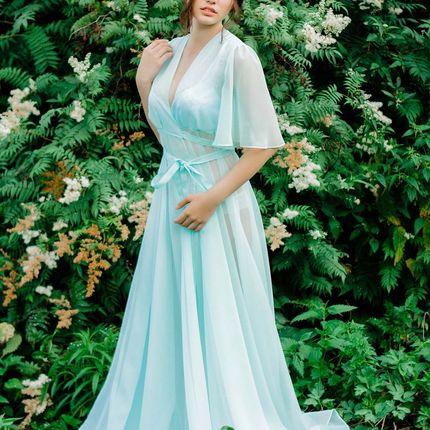 """Будуарное платье """"Голубая лагуна"""""""