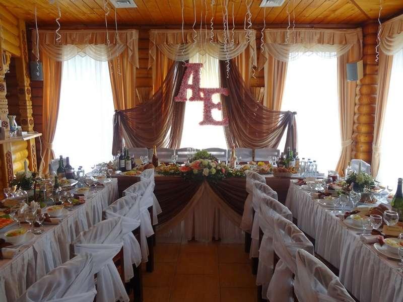 """Оформление стола жениха и невесты. Монограмма - фото 2713305 Компания """"Аспект-Н""""- организация свадьбы"""