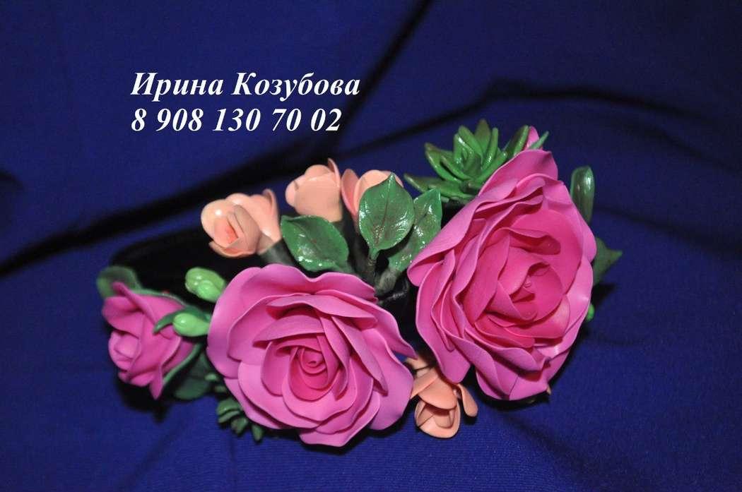 Еще один ободочек теперь уже с объемными розами и фрезиями) - фото 7401122 Свадебные аксессуары от Ирины Козубовой