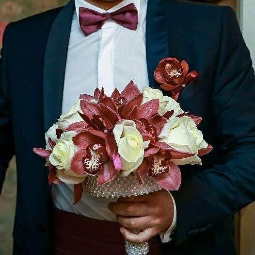 """букет невесты и бутоньерка - фото 8179740 Салон флористики и декора """"Розовый букет"""""""