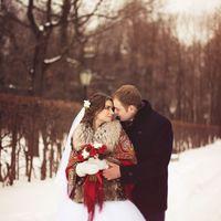 свадьба зимой, зимняя свадьба, свадьба в русско-народном стиле