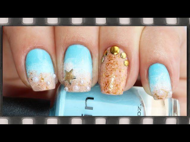 Гелевые ногти на море