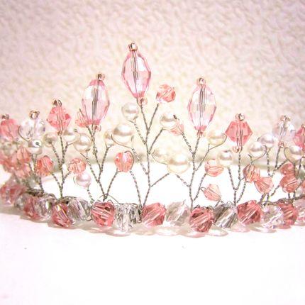 Диадема розовая