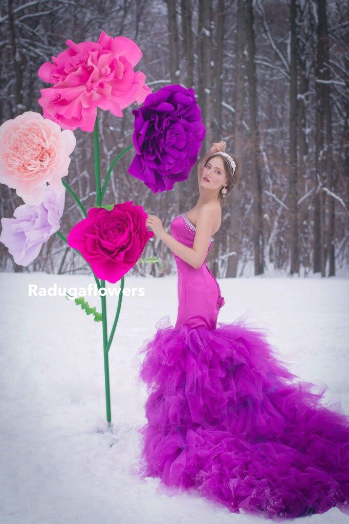 Аренда ростовых цветов для фотосессии