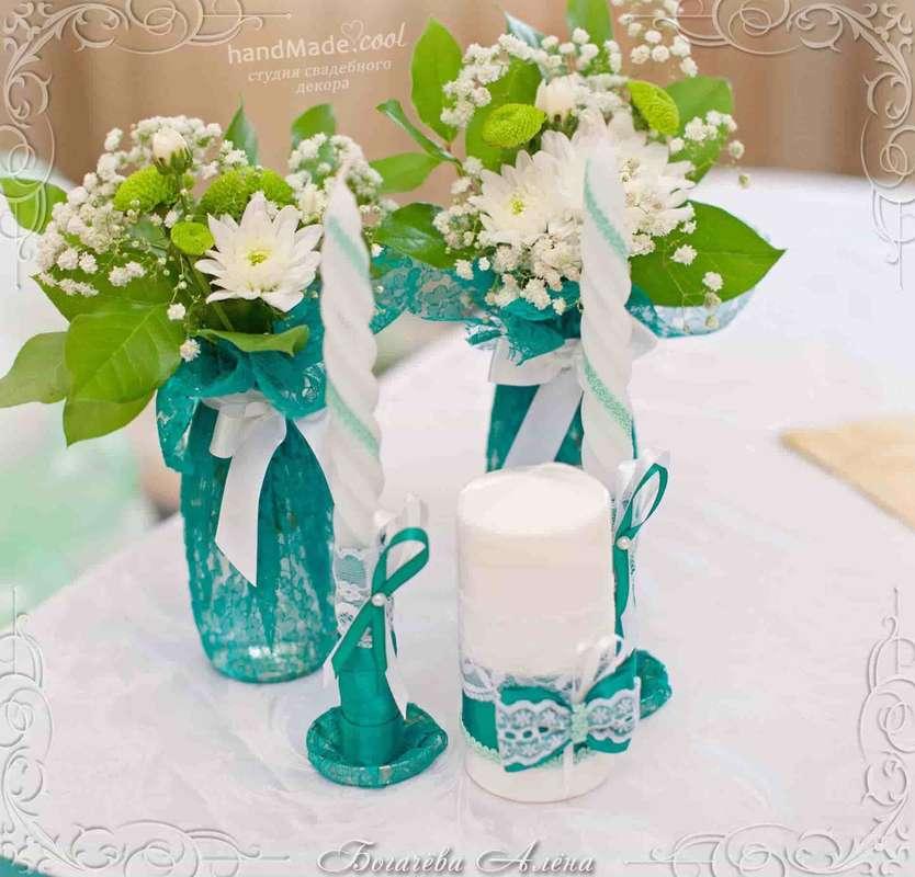 Свадебные свечи для семейного очага, ручная работа на заказ - фото 7676244 Студия свадебного декора Handmade