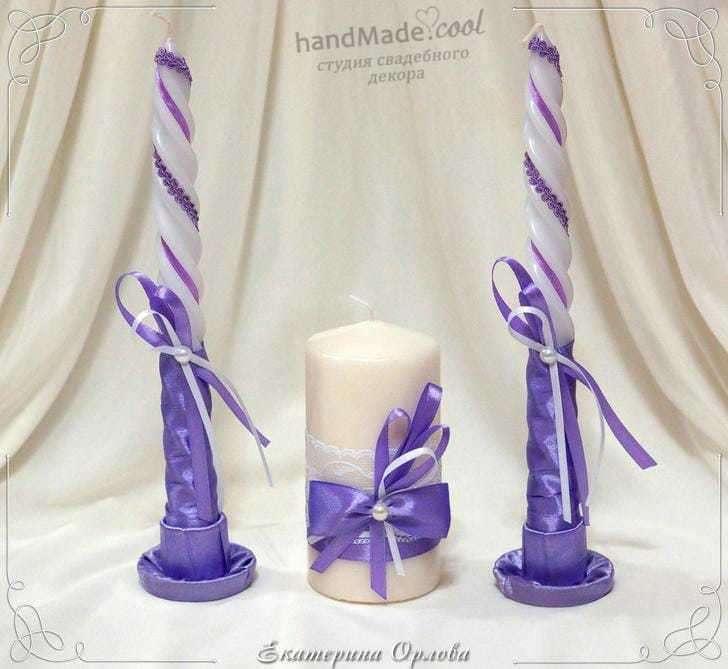Свадебные свечи для семейного очага, ручная работа на заказ - фото 7676316 Студия свадебного декора Handmade