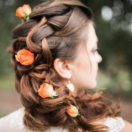 Причёска невесты или вечерняя причёска