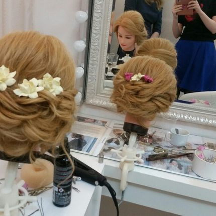 Свадебный образ - макияж и причёска