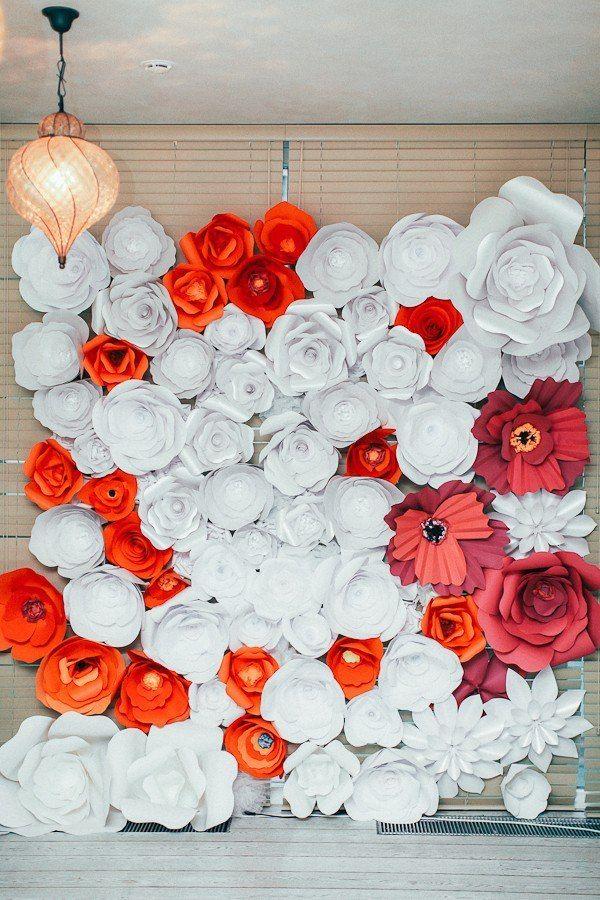 Объемные цветы для фотозоны