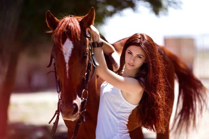 девушка и лошадь красивое фото #11