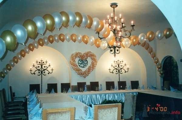 Свадебное сердце - фото 28636 Фабрика Шаров - оформление воздушными шарами