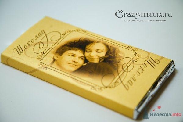 шоколадка - фото 28327 Crazy-Невеста - приглашения, аксессуары и декор