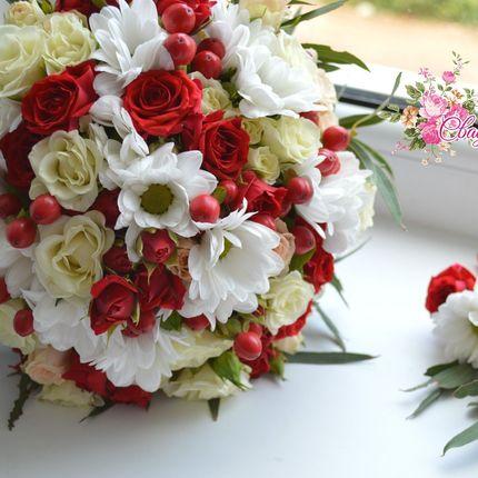 Букет невесты (Бутоньерка в подарок)
